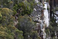 Port Arthur, Australia: competitors trek along the coastline