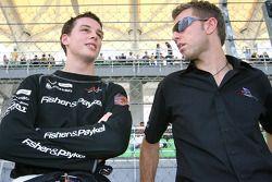 Earl Bamber et Chris Van Der Drift, pilotes de l'quipe de Nouvelle-Zélande