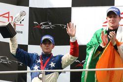 Podium: race winner Adam Carroll, third place Marco Andretti