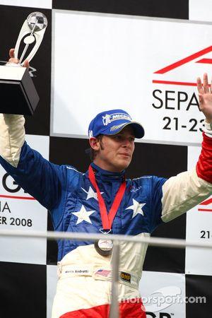 Podium: third place Marco Andretti