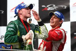Podium: race winner Adam Carroll, second place Filipe Albuquerque