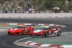 #57 Kessel Racing Ferrari F430: Henri Moser, Niki Cadei, #95 Advanced Engineering Pecom Racing Team Ferrari F430: Matias Russo, Luis Perez Companc