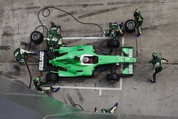 Pit stop for Adam Carroll, driver of A1 Team Ireland