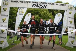Hobart, Australia: Team Telstra cross the finish line