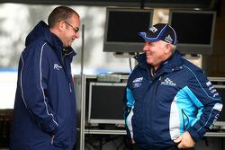 Tim Edwards talking to Ross Stone