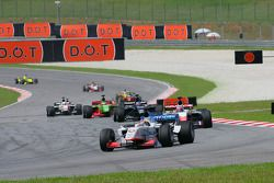 Neel Jani, driver of A1 team Switzerland, leads the field