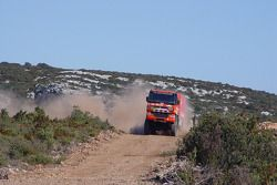 Team de Rooy test in France and in Spain: Gerard de Rooy, Tom Colsoul and Marcel van Melis test the GINAF X2223 rally truck
