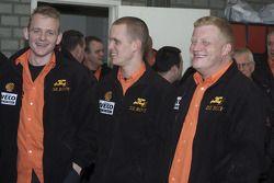Team de Rooy presentation: Gerard de Rooy, Marcel van Melis and Tom Colsoul