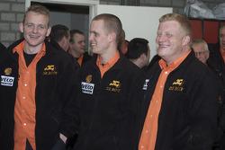 présentation de l'équipe de Rooy: Gerard de Rooy, Marcel van Melis et Tom Colsoul