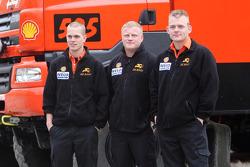 l'équipe de Rooy: pilote Gerard de Rooy, co-pilotes Tom Colsoul et Marcel van Melis, camion #506