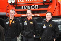 l'équipe de Rooy: pilote Toine van Oorschot, co-pilotes Clim Smulders et Peter van Eerd, camion de soutien #859