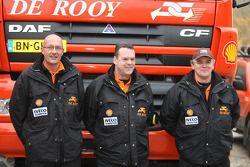 l'équipe de Rooy: pilote Ronald Kuijs, co-pilte Ad van Reijen, membre d'équipage André van der Struijs