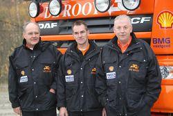 l'équipe de Rooy: pilote Hans Bekx, co-pilote Tonnie Maessen, membre d'équipage Edwin Willems