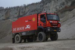 l'équipe de Rooy: Jan de Rooy, Dany Colebunders, Darek Rodewald testant la GINAF X2223