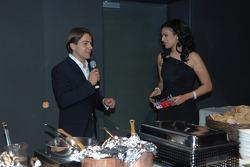 WTCC driver Augusto Farfus with Moderator Khadra Sufi