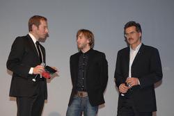 BMW Sauber F1 Team driver Nick Heidfeld with Dr Mario Theissen