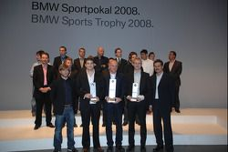 Dr Mario Theissen BMW Sauber F1 Team driver Nick Heidfeld with BMW Motorsport prize winners, 1st Fra