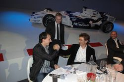 BMW Sauber F1 Team driver Robert Kubica with Alex Zanardi