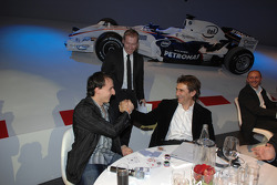 BMW Sauber F1 Team driver Robert Kubica with Alex Zanardi