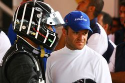 Antonio Pizzonia et Rubens Barrichello, de l'équipe Honda Racing