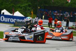 Lucas Di Grassi Test Driver, Renault F1 Team and Vitantonio Liuzzi, Test Driver, Force India F1 Team