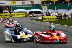 Felipe Massa, Scuderia Ferrari and Antonio Pizzonia