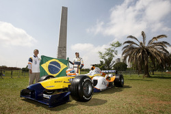 Nelson A. Piquet poses with the Renault F1 R28