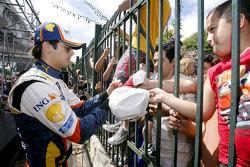 Nelson A. Piquet and fans