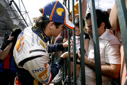 Nelson A. Piquet and fans