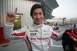 Kamui Kobayashi célèbre sa pole position