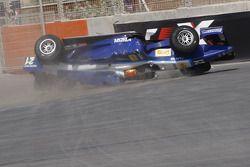 Crash important pour Diego Nunes