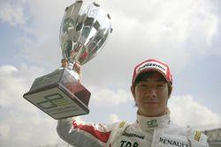 Podium: race winner Kamui Kobayashi