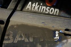 les détails pour l'équipe Subaru World Rally, de la Subaru Impreza WRC of Chris Atkinson