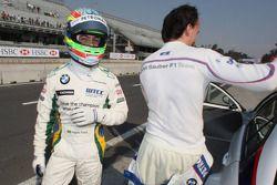 Augusto Farfus et Robert Kubica, BMW Sauber F1 Team