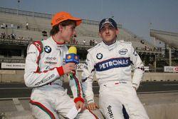 Esteban Gutierrez, Josef Kaufmann Racing et Robert Kubica, BMW Sauber F1 Team