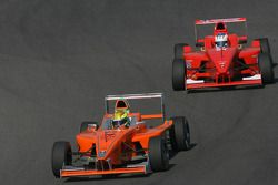 Esteban Gutierrez, Josef Kaufmann Racing devant Michael Christensen, Josef Kaufmann Racing