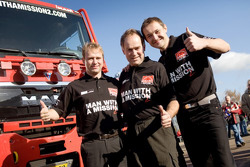 MAN Rally Team presentation: rally truck 2 drivers and co-drivers Franz Echter, Detlef Ruf and Artur Klein