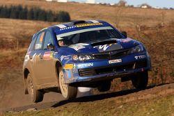 Patrik Flodin et Maria Andersson, Subaru Impreza, Rally Team Olsberg