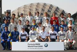 Formula BMW World Final 2008 shooting photo des pilotes