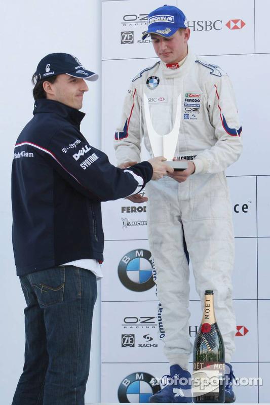 Podium: second place Michael Christensen with Robert Kubica