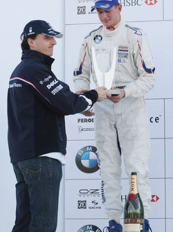 Podium: second place Michael Christensen with Robert Kubica