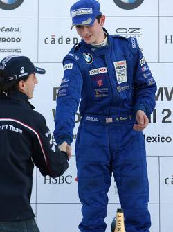 Podium: le vainqueur du World Final Alexander Rossi avec Robert Kubica