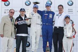 Podium: le vainqueur du World Final Alexander Rossi, le deuxième Michael Christensen, et le troisièm