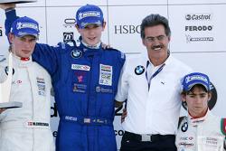 Podium: le vainqueur du World Final Alexander Rossi, le deuxième Michael Christensen, le troisième E