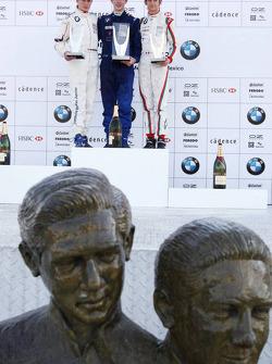 Podium: le vainqueur du World Final Alexander Rossi, en seconde place Michael Christensen, en troisième place Esteban Gutierrez