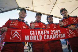 Себастьен Лёб и Даниэль Элена, Даниэль Сордо и Марк Марти, celebrate Citroen's 2008 World Championsh