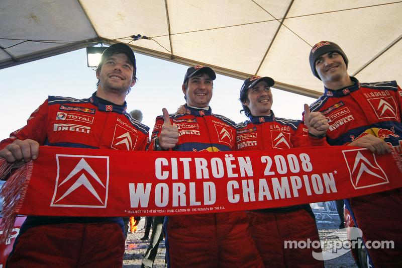 Sébastien Loeb y Daniel Elena, campeones del mundial de rallies (WRC) 2008