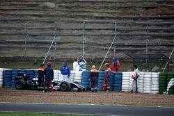 Kazuki Nakajima, Williams F1 Team s'arrête en route à bord d'une voiture interim 2009 de test, Jerez