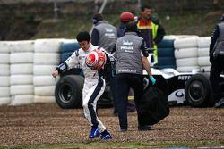 Kazuki Nakajima, Williams F1 Team après s'être arrêté
