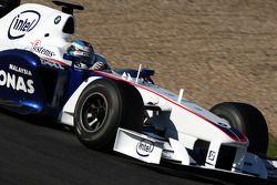 Nick Heidfeld, BMW Sauber F1 Team, voiture interim 2009- test à Jerez